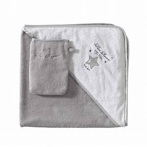 Sortie De Bain Bébé Fille : cape de bain b b gant en coton gris blanc songe maisons du monde ~ Teatrodelosmanantiales.com Idées de Décoration