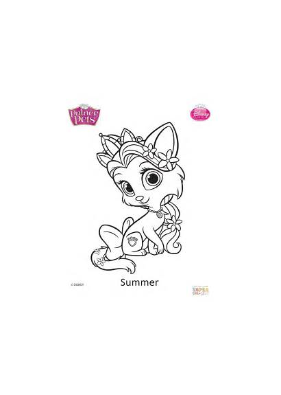 Coloring Pets Palace Pages Summer Supercoloring Printable