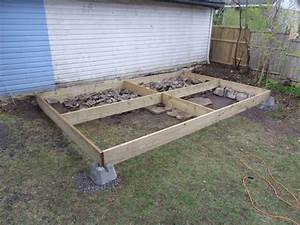 Support Terrasse Bois : faire une terrasse en bois sur gazon ~ Premium-room.com Idées de Décoration