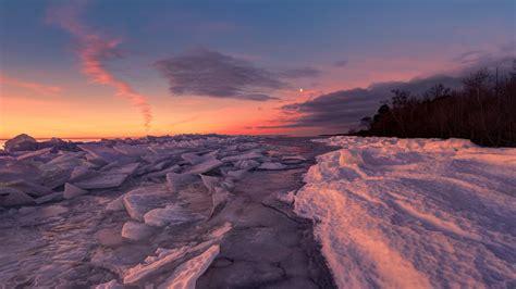 Wallpaper For Desktop by Frozen Sea Winter Cold Snow Coast Pieces From Broken