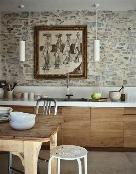 Moderne Küchen Tapeten by Stein Tapeten Erschaffen Ein Komfortables Ambiente In