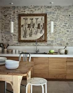 Moderne Tapeten Für Die Küche : stein tapeten erschaffen ein komfortables ambiente in ihrem zuhause ~ Sanjose-hotels-ca.com Haus und Dekorationen
