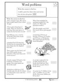word problems 3rd grade word problem worksheets 2nd grade davezan