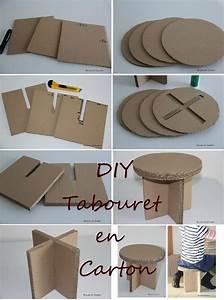 Objet En Carton Facile A Faire : diy tabouret en carton bricol et carton ecolo meuble en carton carton et mobilier en carton ~ Melissatoandfro.com Idées de Décoration