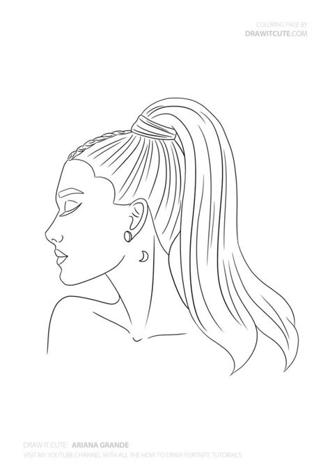 How to draw Ariana Grande step-by-step guide - Draw it cute