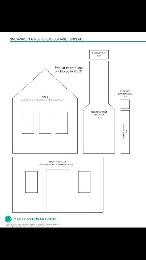 martha stewart gingerbread house template plans