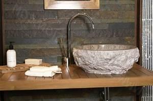 un lavabo vasque en pierre grand choix archzinefr With salle de bain design avec lavabo pierre bleue