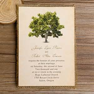 personalized bridal shower favors green tree burlap layered wedding invitations
