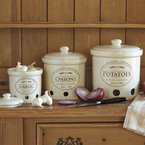 kitchen canisters ceramic sets garlic potato crock canisters jar fresh storage