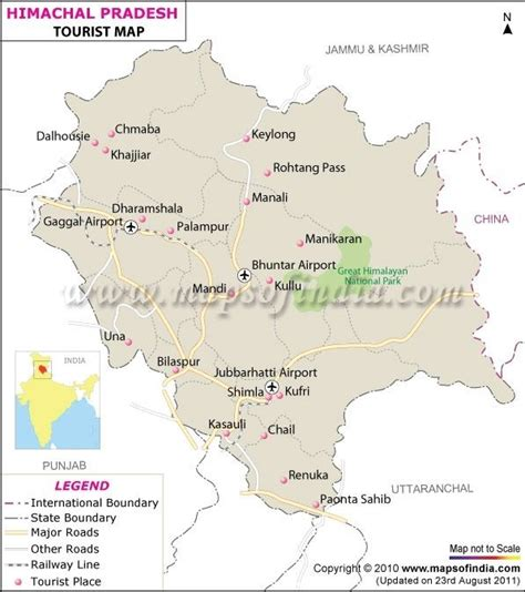 map  himachal pradesh india travel pinterest