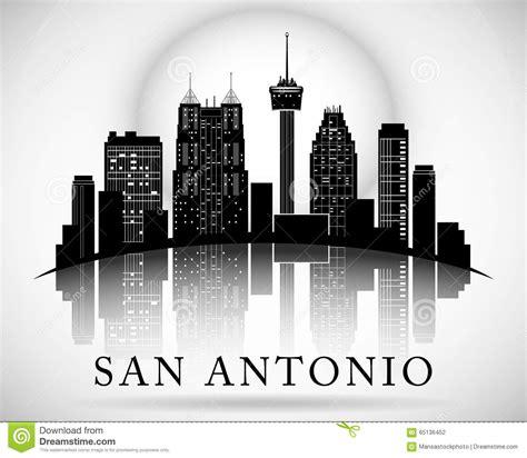 san antonio design san antonio texas city skyline silhouette stock vector image 65136452