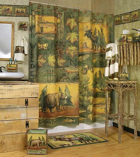 rustic shower curtain picture