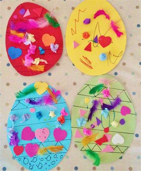easter crafts decorating card easter eggs alice amelia
