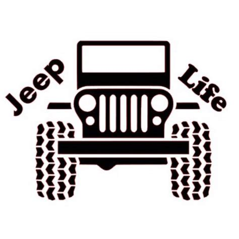 jeep life decal jeep life vinyl decal by stickitvinyldesigns on etsy