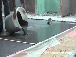 beton cire coule avec decomat39pro youtube With beton cire pour terrasse exterieur