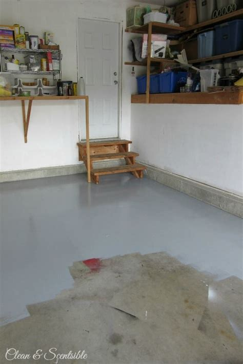 Garage Floor Paint Houston by How To Paint A Garage Floor Household Hints Garage