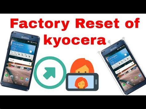how to reset a kyocera phone kyocera hydro wave