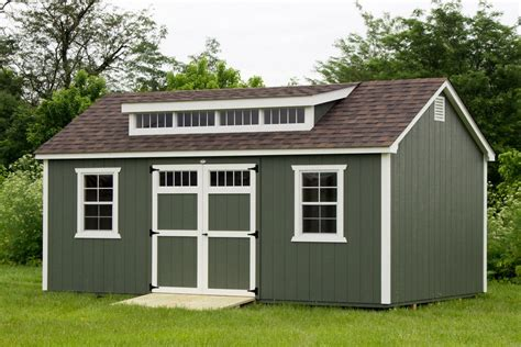 12x20 Shed by 12x20 Painted Shed Dormer Byler Barns