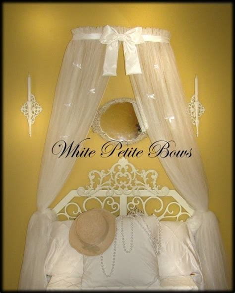 princess bed canopy crown with curtains sale white bow