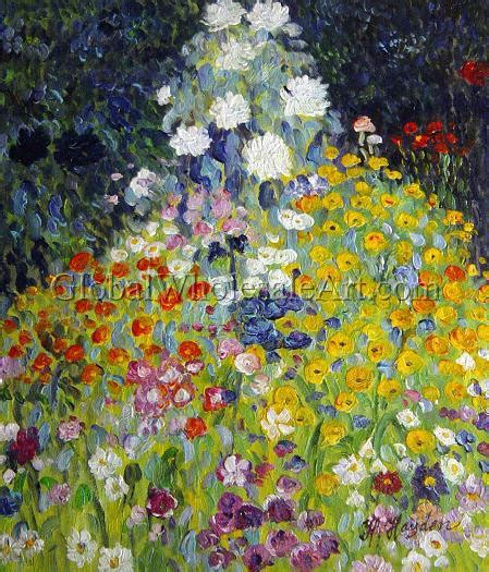 gustav klimt flower garden paintings on canvas