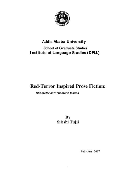 red terror inspired prose fiction character