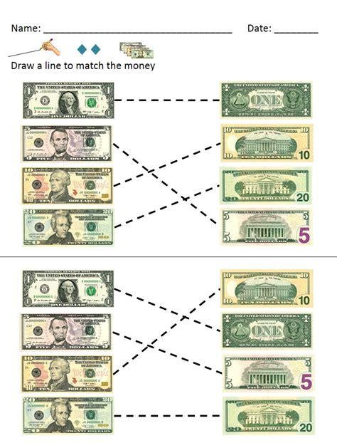 money math dollar bills identification and value