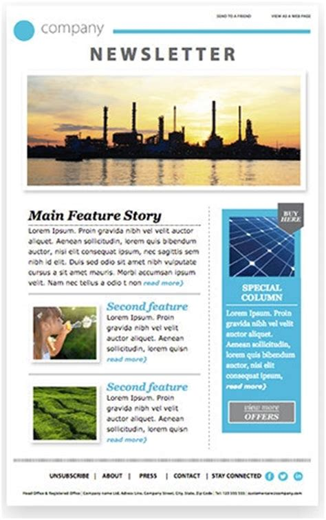email newsletter templates 12 free email templates from professional designers