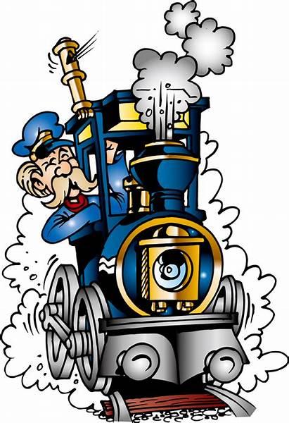 Train Cartoon Steam Driver Transparent Clipart Driving