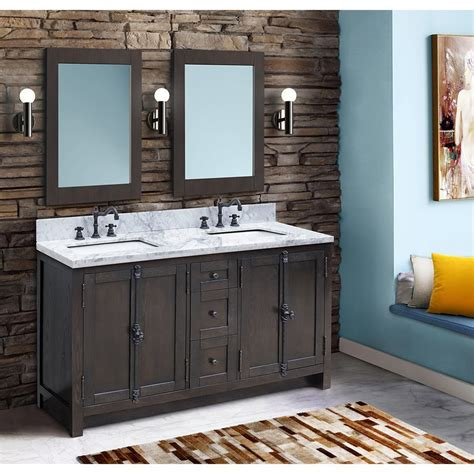 Out of stock eta 5/31/2021. Bellaterra 55 Inch Walnut Double Sink Vanity with White ...