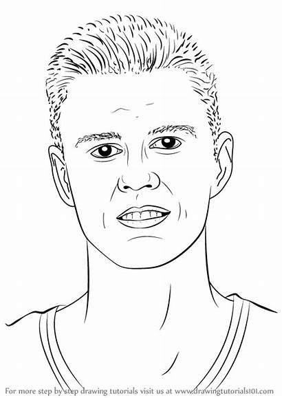 Draw Drawing Porzingis Step Player Nba Kristaps