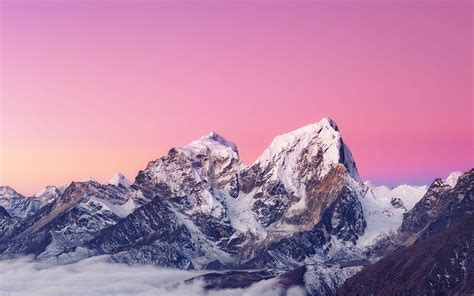 himalaya sunset white mountain art papersco
