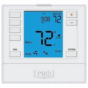 3 Heat    2 Cool Programmable Pro1 Iaq Digital Thermostat
