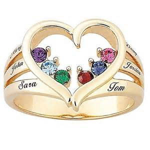 mothers day rings with birthstones 39 s birthstone goldtone heart name ring 6577415 hsn