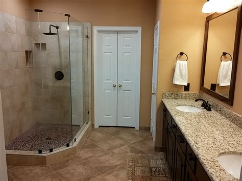 master bathroom upgrade  walk  shower