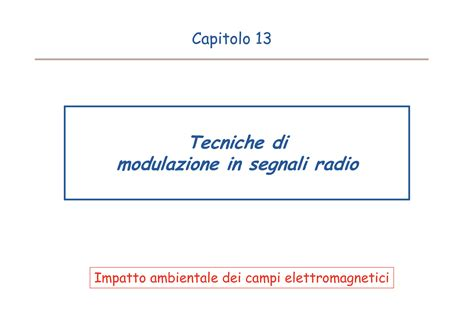Ci Elettromagnetici Dispense by Misura Di Ci Elettromagnetici Modulazione Di Segnali