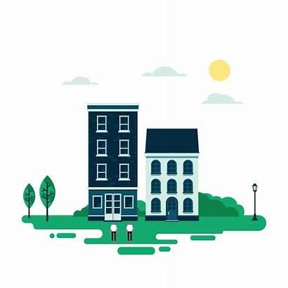 Animated Buildings Seo Behance Engines Optimization Digital
