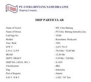 Ship Particular Tongkang 270 Feet by Kesalahan Dalam Penyebutan Dan Penulisan Satuan Gross