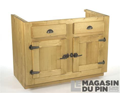 meuble cuisine sous evier meuble sous évier 2 portes pin massif pour cuisine avoriaz