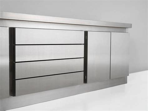 stainless steel credenza lodovico acerbis stainless steel sideboard for acerbis for