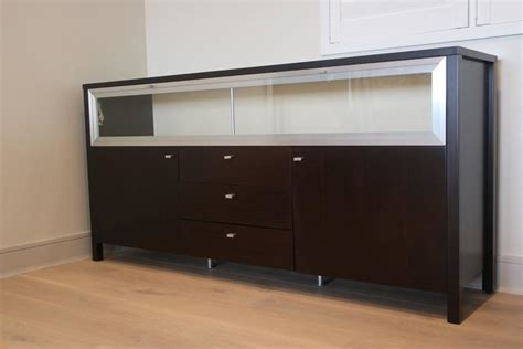 Glass Front Buffet Sideboard by Cool Modern Glass Top And Front Display Cabinet Buffet Bar