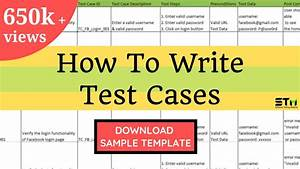 How To Write Test Cases In Manual Testing