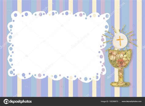 First Holy Communion invites card Stock Photo © Risia
