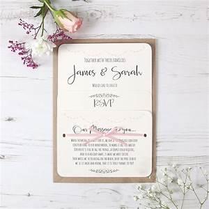 pale pink heart bunting wedding invitation With electronic wedding invitations uk