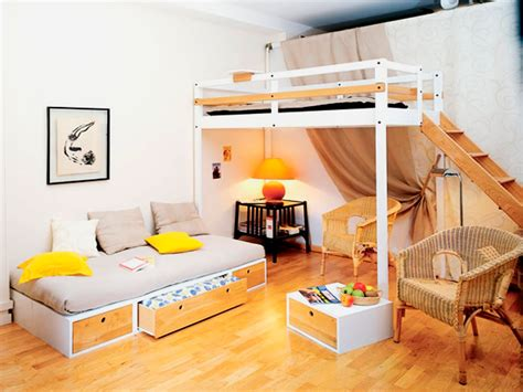 Loft Bed For Teenager Bed Rooms For Boys Hanging Swing