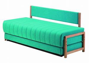 rectangle blue fabric sofa bed twin size with back and has With sofa bed no mattress