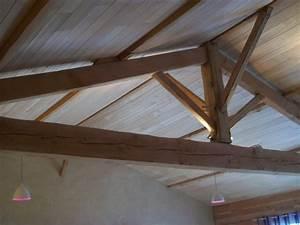 Pose De Lambris Bois : lame de bois finition pour isolation au chanvre ~ Premium-room.com Idées de Décoration