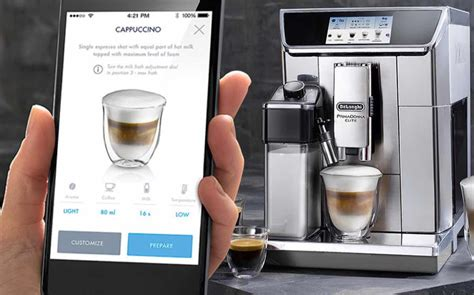 tea maker machine delonghi primadonna elite wifi operated bean to cup coffee