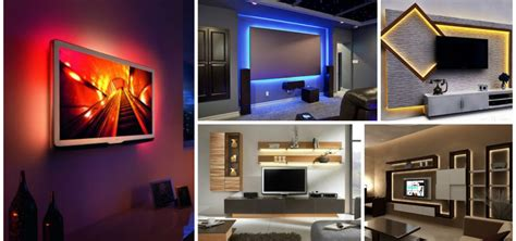 marvelous led lights  tv wall units    today
