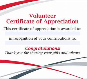 Sample volunteer certificate template 10 free documents for Volunteer certificate of appreciation templates free