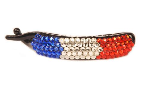 eye catching red white  blue sequin hair clip
